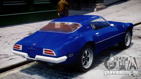Pontiac Firebird Esprit 1971 для GTA 4 салон