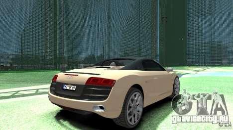 Audi R8 Spyder v10 [EPM] для GTA 4 вид сзади слева