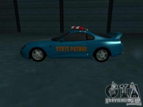 Toyota Supra California State Patrol для GTA San Andreas вид сверху