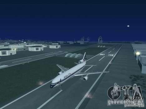 L1011 Tristar Delta Airlines для GTA San Andreas вид справа