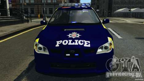 Subaru Impreza British ANPR [ELS] для GTA 4 вид сверху