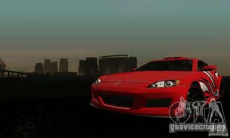 Mazda RX-8 Tuneable для GTA San Andreas вид изнутри