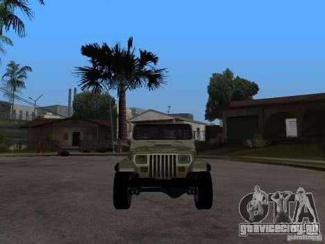 Jeep Wrangler 1986 4.0 Fury v.3.0 для GTA San Andreas вид справа