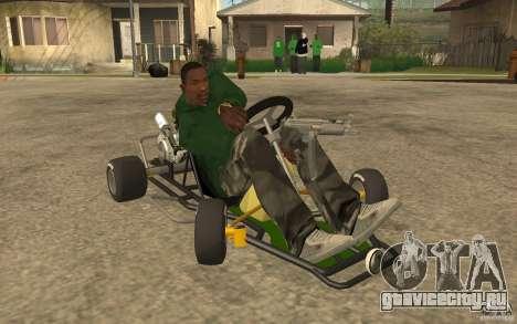 Hayabusa Kart для GTA San Andreas вид сзади