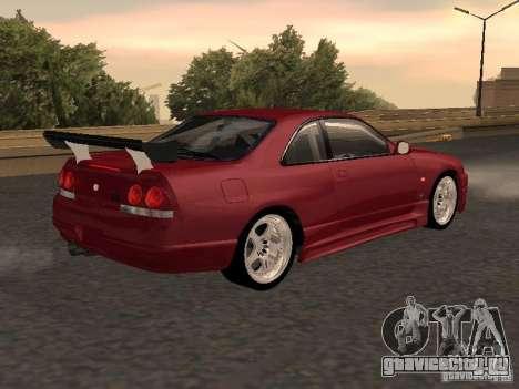 Nissan Skyline GT-R BCNR 33 для GTA San Andreas вид слева