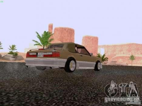 Ford Mustang GT 5.0 Convertible 1987 для GTA San Andreas вид справа