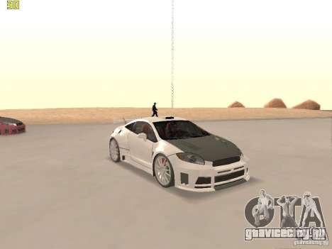 Mitsubishi Eclipse GT NFS-MW для GTA San Andreas вид сверху