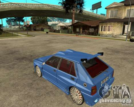 Lancia Delta Sparco для GTA San Andreas вид слева