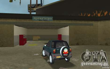 Toyota RAV4 для GTA Vice City вид сзади слева