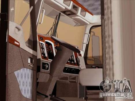 Kenworth T800 для GTA San Andreas вид изнутри