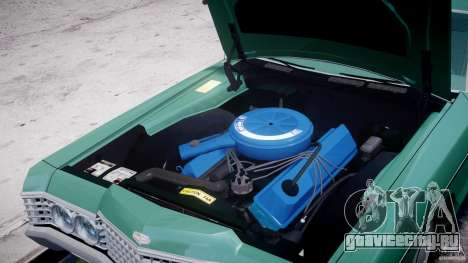 Mercury Monterey 2DR 1972 для GTA 4 вид изнутри