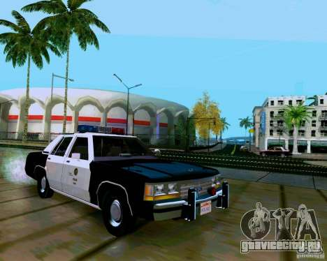 Ford Crown Victoria LTD LAPD 1991 для GTA San Andreas вид справа