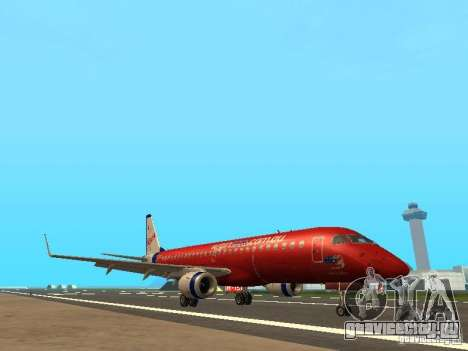 Embraer ERJ 190 Virgin Blue для GTA San Andreas вид слева