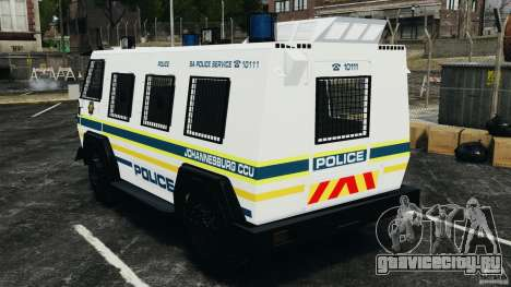 RG-12 Nyala - South African Police Service для GTA 4 вид сзади слева