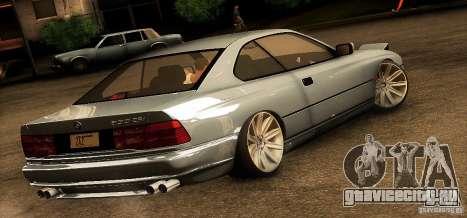 BMW 850 CSI для GTA San Andreas вид сзади слева