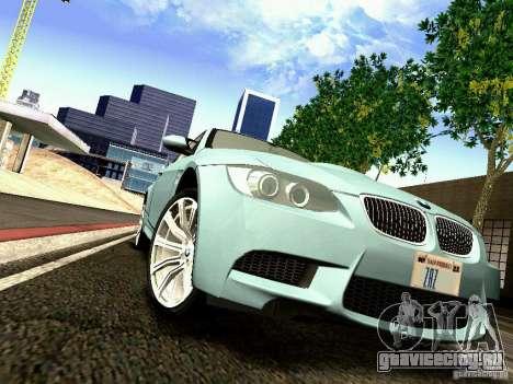 BMW M3 MotoGP SafetyCar для GTA San Andreas вид изнутри