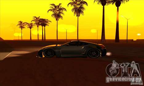 Nissan 370z Drift Edition для GTA San Andreas вид слева