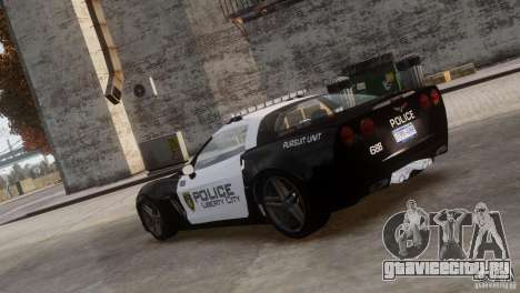 Chevrolet Corvette LCPD Pursuit Unit для GTA 4 вид слева