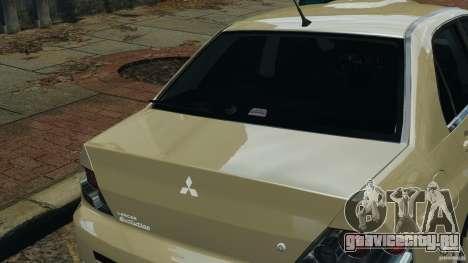 Mitsubishi Lancer Evolution VIII v1.0 для GTA 4 вид сверху