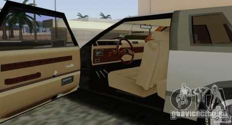 Virgo Continental для GTA San Andreas вид снизу