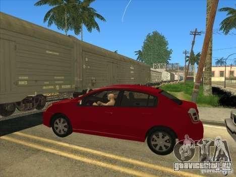 Nissan Sentra 2012 для GTA San Andreas вид сзади слева