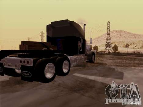 Peterbilt 378 Custom для GTA San Andreas вид сзади слева
