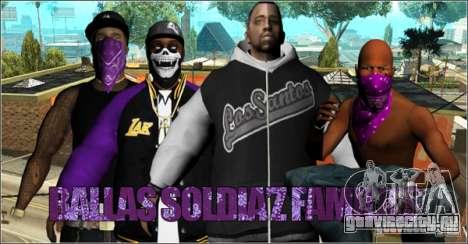 Pack Ballas Soldiaz Families V.2 для GTA San Andreas