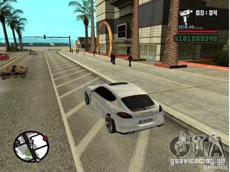 Porshe Panamera для GTA San Andreas вид сзади слева