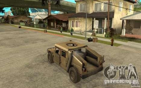 Hummer H1 War Edition для GTA San Andreas вид сзади слева
