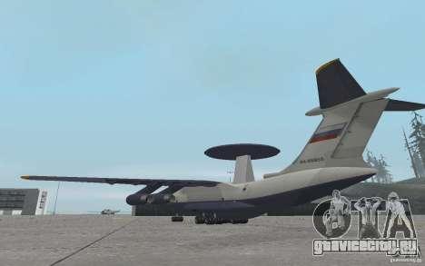 Berijew A-50 Mainstay для GTA San Andreas вид сзади слева