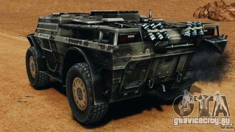 Armored Security Vehicle для GTA 4 вид сзади слева