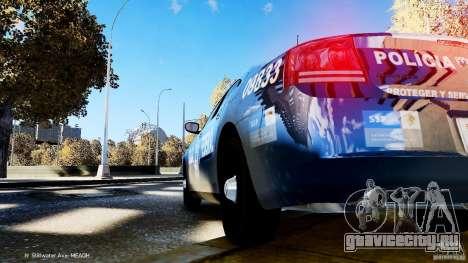 POLICIA FEDERAL MEXICO DODGE CHARGER ELS для GTA 4 вид изнутри