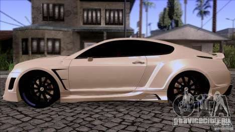 Bentley Continental GT Premier 2008 V2.0 для GTA San Andreas вид справа