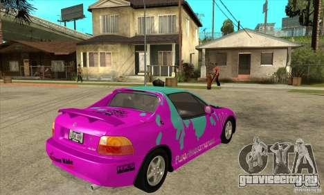 Honda CRX - DelSol для GTA San Andreas вид справа