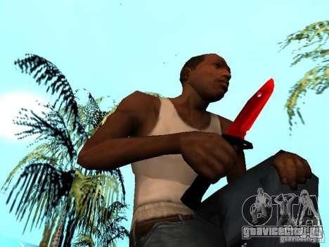 Red Chrome Weapon Pack для GTA San Andreas одинадцатый скриншот