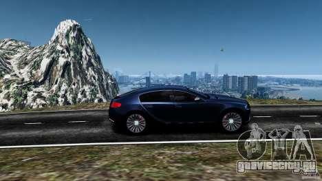 Bugatti Galibier 2009 для GTA 4 вид сверху