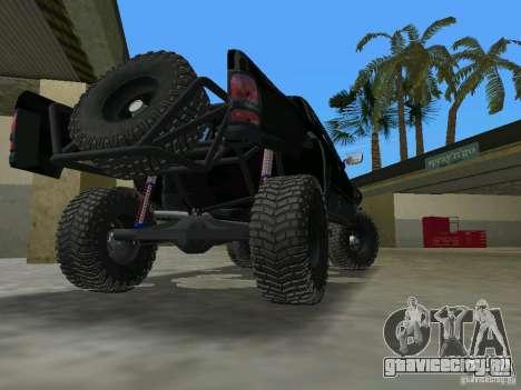 Dodge Ram Prerunner для GTA Vice City вид сзади слева