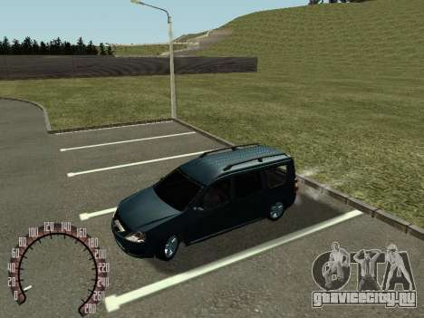 Lada Largus для GTA San Andreas вид слева