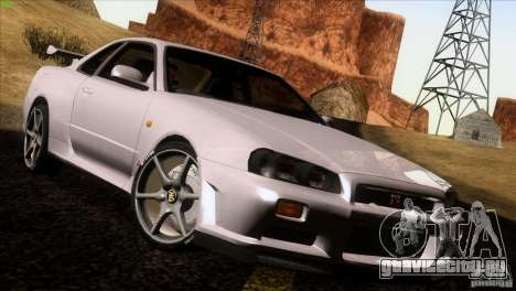 Nissan Skyline R34 Drift для GTA San Andreas
