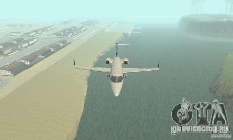 Bombardier Leardjet 45XR для GTA San Andreas вид изнутри