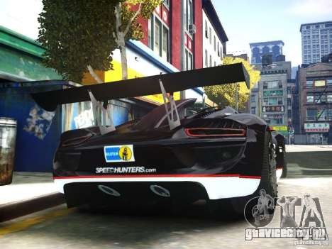 Porsche 918 Spider Body Kit Final для GTA 4 вид справа