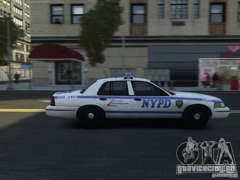 Ford Crown Victoria NYPD 2012 для GTA 4 вид сзади