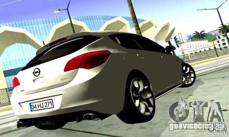 Opel Astra Senner для GTA San Andreas вид сзади