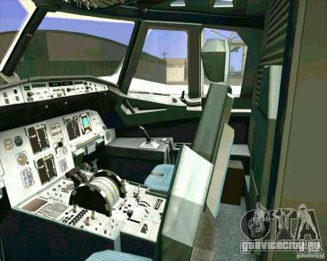 Airbus A-320 авиакомпании UTair для GTA San Andreas вид сверху