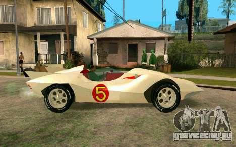 Mach 5 для GTA San Andreas вид слева