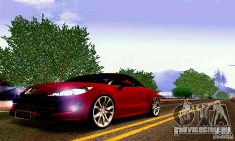 Peugeot Rcz 2011 для GTA San Andreas вид сверху