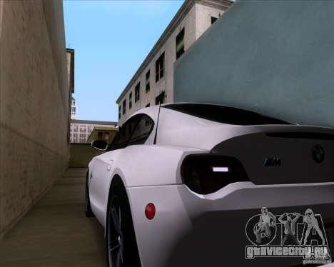 BMW Z4 M Coupe для GTA San Andreas вид сверху