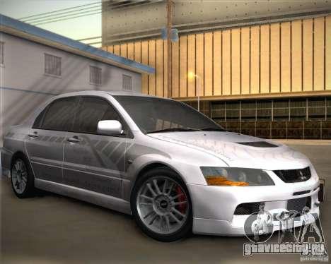 Mitsubishi Lancer Evolution IX Tunable для GTA San Andreas вид сбоку