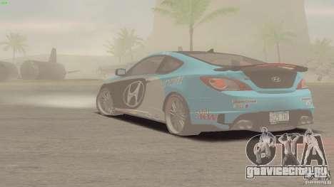 Hyundai Genesis Tunable для GTA San Andreas вид изнутри