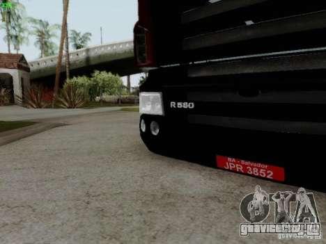 Scania R580 V8 Topline для GTA San Andreas вид изнутри